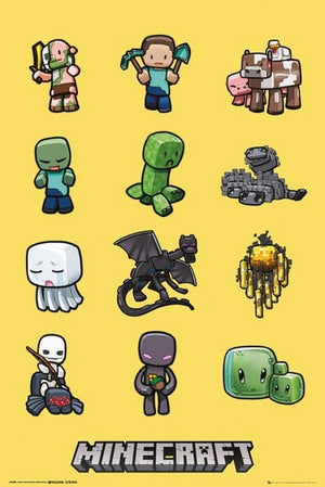 GBeye Minecraft Characters Poster 61x91,5cm | Yourdecoration.nl