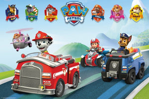 GBeye Paw Patrol Vehicles Poster 91,5x61cm | Yourdecoration.nl