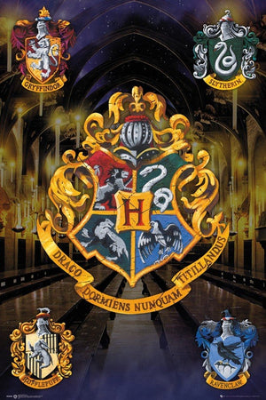 GBeye Harry Potter Crests Poster Poster 61x91,5cm | Yourdecoration.nl
