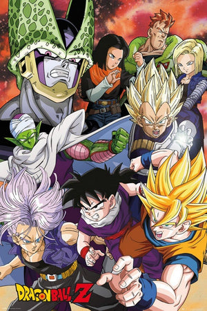 GBeye Dragon Ball Z Cell Saga Poster 61x91,5cm | Yourdecoration.nl