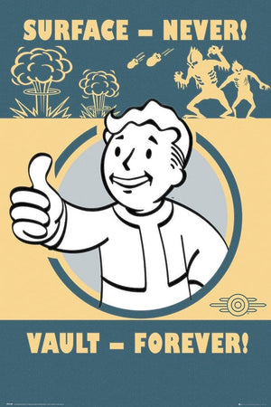GBeye Fallout 4 Vault Forever Poster 61x91,5cm | Yourdecoration.nl
