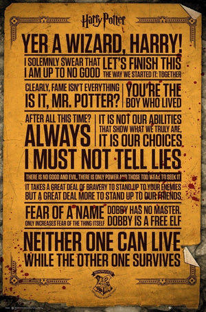 GBeye Harry Potter Quotes Poster 61x91,5cm | Yourdecoration.nl