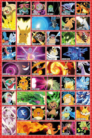 GBeye Pokemon Moves Poster 61x91,5cm | Yourdecoration.nl