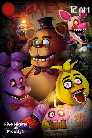 GBeye Five Nights at Freddys Group Poster 61x91,5cm | Yourdecoration.nl