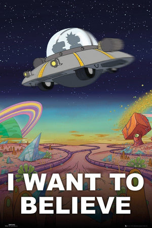 GBeye Rick and Morty I Want to Believe Poster 91,5x61cm | Yourdecoration.nl