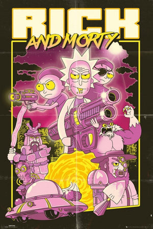 GBeye Rick and Morty Action Movie Poster 61x91,5cm | Yourdecoration.nl