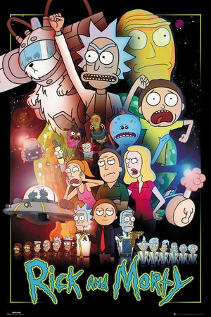 GBeye Rick and Morty Wars Poster 61x91,5cm | Yourdecoration.nl