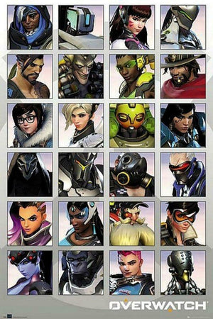 GBeye Overwatch Character Portraits Poster 61x91,5cm | Yourdecoration.nl