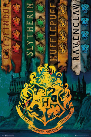 GBeye Harry Potter House Flags Poster 61x91,5cm | Yourdecoration.nl