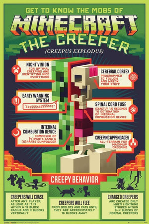 GBeye Minecraft Creepy Behavior Poster 61x91,5cm | Yourdecoration.nl