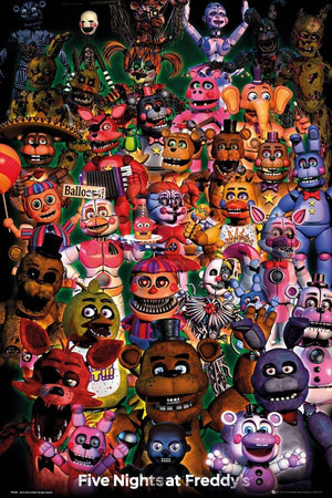 GBeye Five Nights at Freddys Ultimate Group Poster 61x91,5cm | Yourdecoration.nl