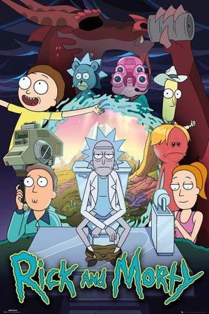 GBeye Rick and Morty Season 4 Part One V2 Poster 61x91,5cm | Yourdecoration.nl