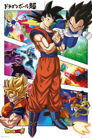 GBeye Dragon Ball Super Panels Poster 61x91,5cm | Yourdecoration.nl
