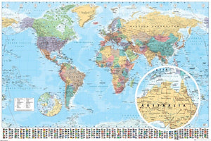 GBeye World Map 2017 Poster 91,5x61cm | Yourdecoration.nl