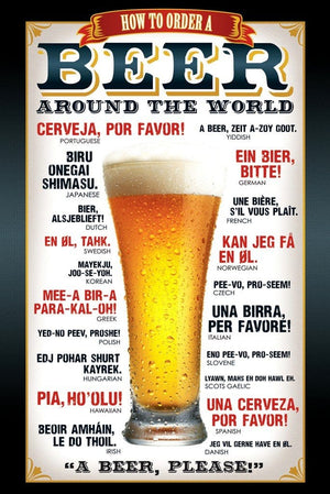GBeye Beer How to Order Poster 61x91,5cm | Yourdecoration.nl