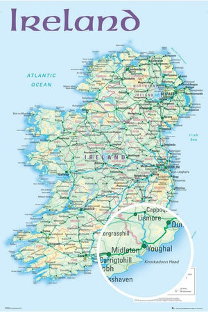 GBeye Ireland Map 2012 Poster 61x91,5cm | Yourdecoration.nl
