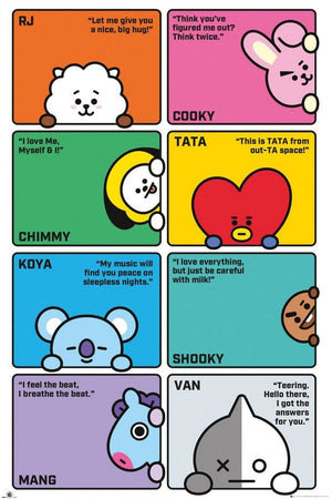 GBeye BT21 Compilation Poster 61x91,5cm | Yourdecoration.nl