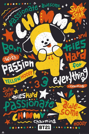 GBeye BT21 Chimmy Poster 61x91,5cm | Yourdecoration.nl