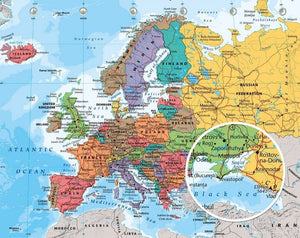 GBeye European Map 2014 Poster 50x40cm | Yourdecoration.nl