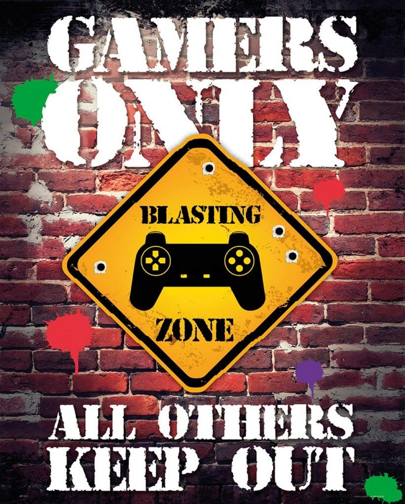GBeye Gamers Only Controller Keep Out Poster 40x50cm