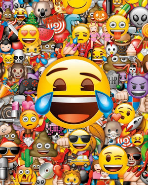 GBeye Emoji Collage Poster 40x50cm | Yourdecoration.nl