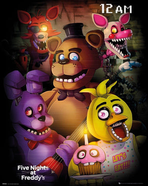 GBeye Five Nights at Freddys Group Poster 40x50cm | Yourdecoration.nl
