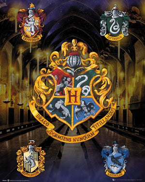 GBeye Harry Potter House Crests Poster 40x50cm | Yourdecoration.nl