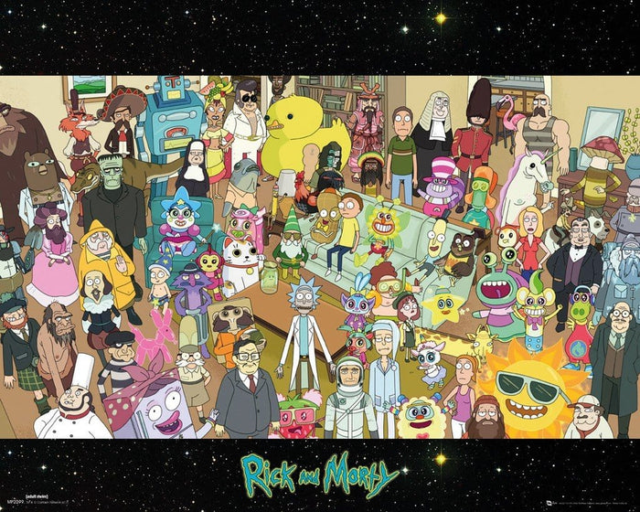GBeye Rick and Morty Cast Poster 50x40cm