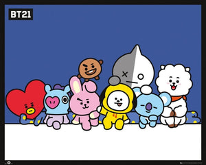 GBeye BT21 Group Poster 50x40cm | Yourdecoration.nl
