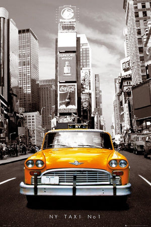GBeye New York Taxi No 1 Poster 61x91,5cm | Yourdecoration.nl