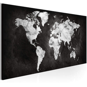 Artgeist Two-coloured World Canvas Schilderij  | Yourdecoration.nl