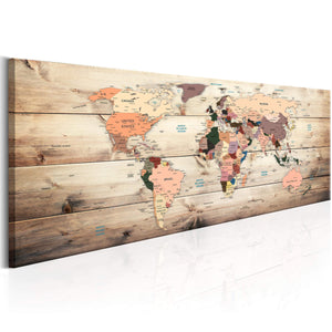 Artgeist World Maps Map of Dreams Canvas Schilderij  | Yourdecoration.nl