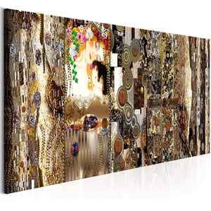 Artgeist Mothers Love Gold Canvas Schilderij  | Yourdecoration.nl