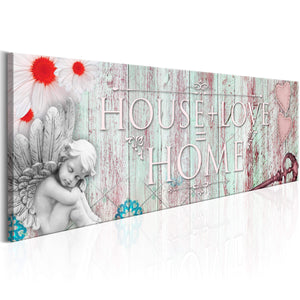 Artgeist Home House And Love Canvas Schilderij  | Yourdecoration.nl