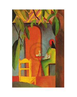 August Macke - Türkisches Cafe II Kunstdruk 24x30cm | Yourdecoration.nl