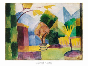 August Macke - Garten am Thuner See Kunstdruk 80x60cm | Yourdecoration.nl