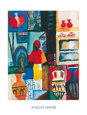 August Macke - Merchant with Jugs Kunstdruk 60x80cm | Yourdecoration.nl