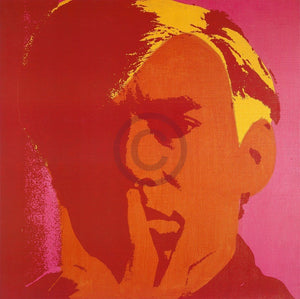 Andy Warhol - Self-Portrait 1966 Kunstdruk 66x66cm | Yourdecoration.nl
