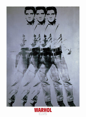 Andy Warhol - Elvis 1963 Triple Kunstdruk 66x90cm | Yourdecoration.nl