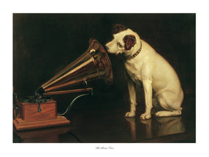 Francis Barraud - His Master's Voice Kunstdruk 80x60cm | Yourdecoration.nl