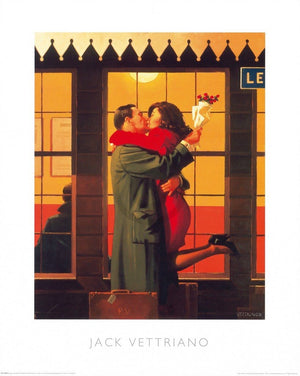 Jack Vettriano - Back Where You Belong Kunstdruk 40x50cm | Yourdecoration.nl