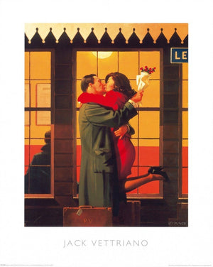 Jack Vettriano - Back Where You Belong Kunstdruk 60x80cm | Yourdecoration.nl