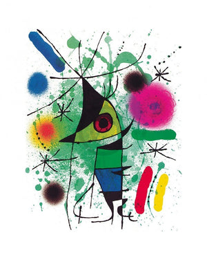 Joan Miro - The singing Fish Kunstdruk 40x50cm | Yourdecoration.nl