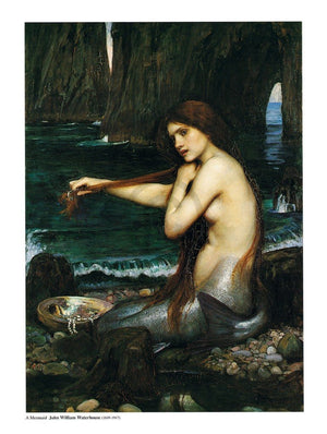 John William Waterhouse - A Mermaid Kunstdruk 60x80cm | Yourdecoration.nl