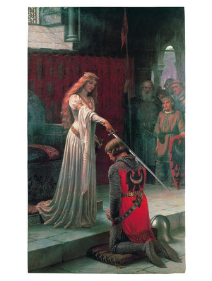 Edmund Blair Leighton - The Accolade, 1901 Kunstdruk 60x80cm | Yourdecoration.nl
