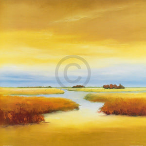 Hans Paus - Down the River I Kunstdruk 70x70cm | Yourdecoration.nl