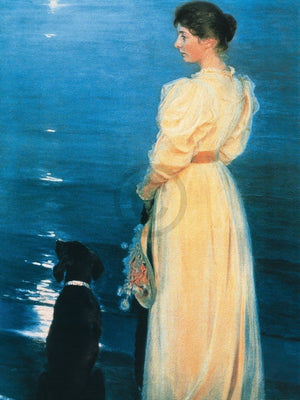 Peter Severin Krøyer - Summer evening at Skagen Kunstdruk 60x80cm | Yourdecoration.nl