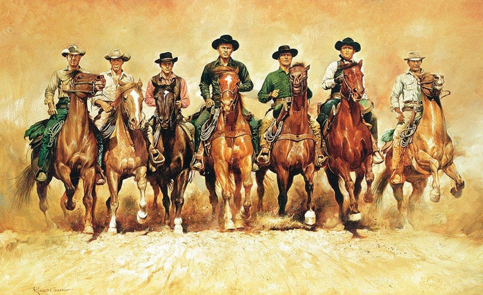 Renato Casaro - The magnificent Seven Kunstdruk 138x85cm