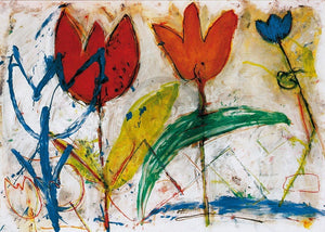 Ursula Meyer-Petersen - Tulips Kunstdruk 70x50cm | Yourdecoration.nl