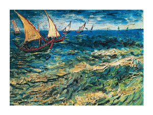 Vincent Van Gogh - Seascape at Saintes-Maries Kunstdruk 80x60cm | Yourdecoration.nl